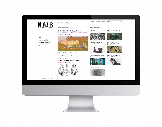 Neues Museum Biel, Website