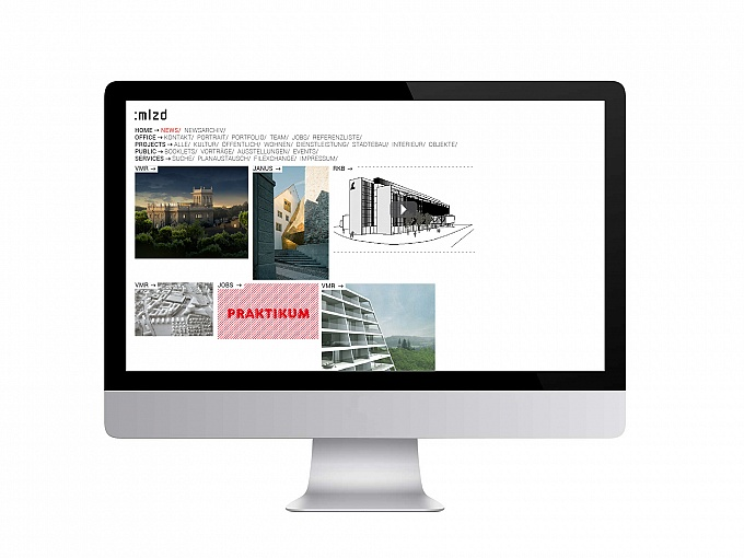 mlzd Architekten, Website
